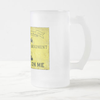 Dont Tread on Me Frosted Glass Beer Mug