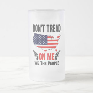 Don't Tread On Me Frosted Glass Mug