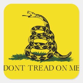 Don't Tread on Me Gadsden American Flag Square Sticker