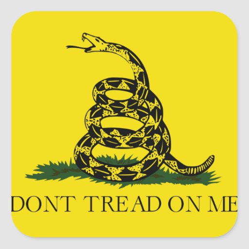 Don't Tread on Me Gadsden American Flag Square Stickers
