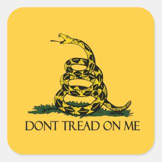 Don't Tread on Me, Gadsden Flag Patriotic History Square Sticker