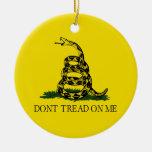 Dont Tread On Me Gadsden Flag Political Christmas Tree Ornaments
