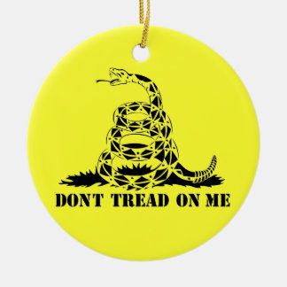 Dont Tread On Me Gadsden Flag Snake Symbol Christmas Ornament