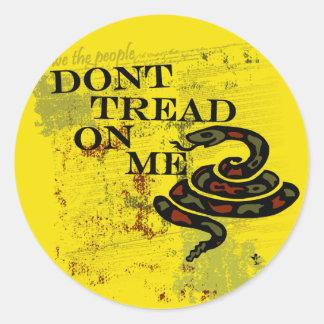 Dont Tread on Me Gadsden Flag/Symbol Round Sticker