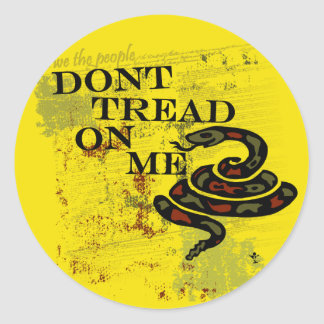 Dont Tread on Me Gadsden Flag/Symbol Classic Round Sticker