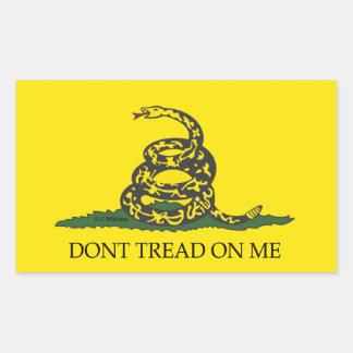 Don't tread on me!-Gadsten Flag Rectangular Sticker