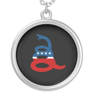 Don't Tread on Me Party Round Pendant Necklace