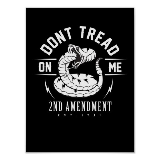"""Dont Tread on Me"" Poster"