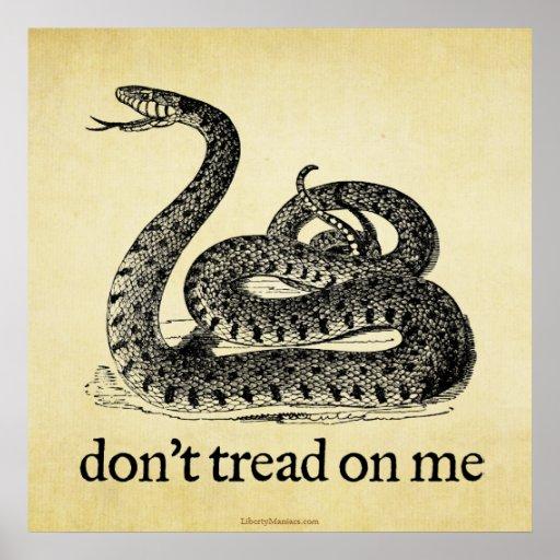 Don't Tread on Me Print