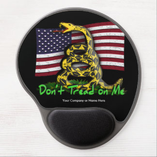 Don't Tread on Me Snake and USA Flag Gel Mouse Mat