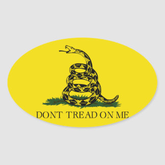 Dont Tread On Me Oval Sticker