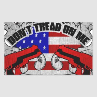 Don't Tread On Me Rectangle Stickers