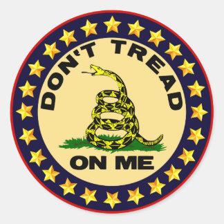 Don't Tread On Me! Round Sticker