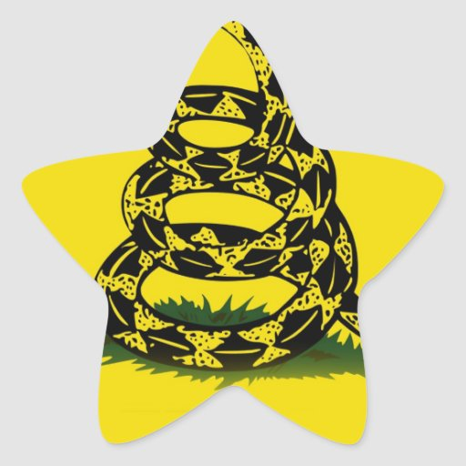 Don't Tread On Me Star Stickers