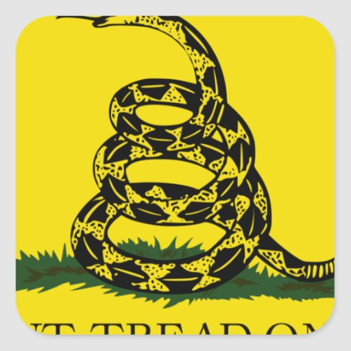 Don't Tread On Me Square Stickers