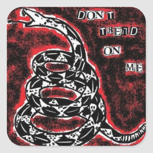 Don't Tread On Me Sticker by SubCriminal