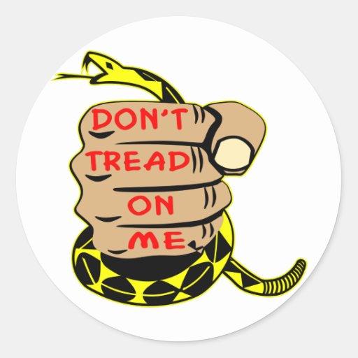 Don't Tread On Me Tattoo Fist Gadsden Flag Snake Sticker