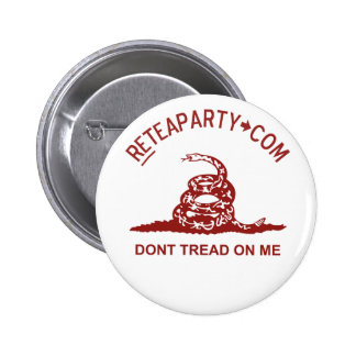Dont Tread On Me Tea Party Button