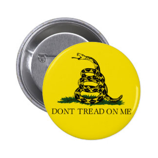 DONT TREAD ON ME, The Gadsden Flag 6 Cm Round Badge