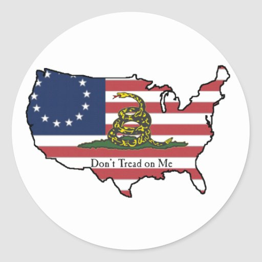 Dont Tread on Me USA Classic Round Sticker