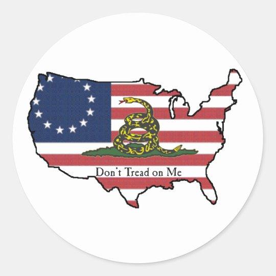 Dont Tread on Me USA Classic Round Sticker