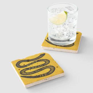 Dont Tread On Me Vintage Stone Beverage Coaster