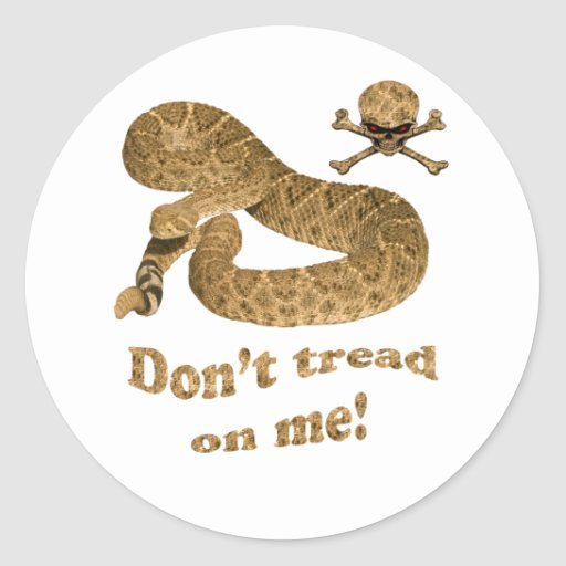 Don't tread on me w skull sticker