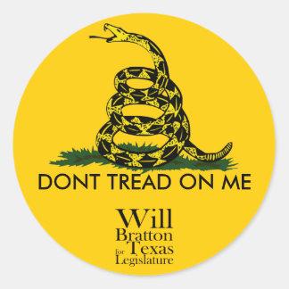 Don't Tread on Me, Will Bratton Sticker