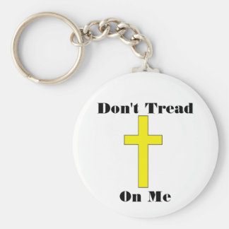 Don't Tread On Me with Cross Freedom Keychain