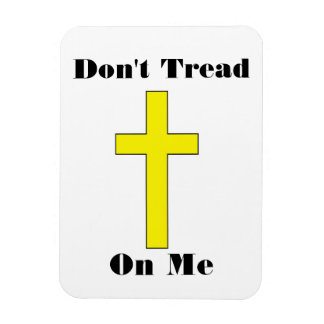 Don't Tread On Me with Cross Religious Freedom Mag Rectangular Photo Magnet