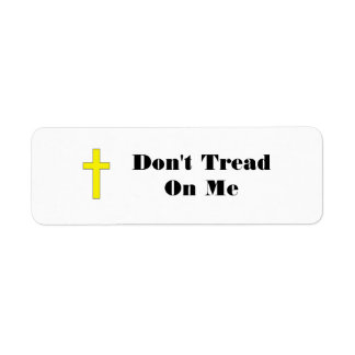 Don't Tread On Me with Cross Sm. Envelope Stickers Return Address Label