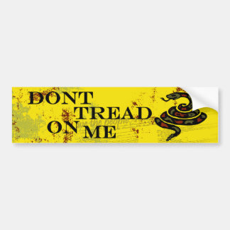 Don't Tread on Me Yellow Bumber Stickers Bumper Sticker