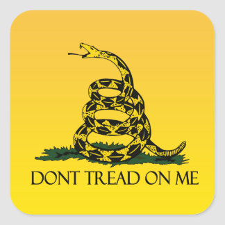 Don't Tread on Me, Yellow Gadsden Flag Ensign Stickers