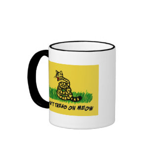 Don't Tread on Meow Ringer Coffee Mug