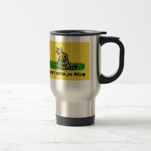 Don't Tread on Meow Coffee Mugs