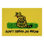 Don't Tread on Meow Poster