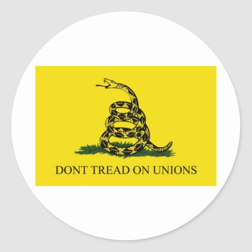 Don't Tread On Unions Stickers