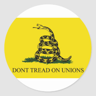 Don't Tread On Unions Round Stickers
