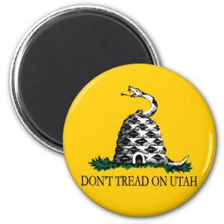 Don't Tread on Utah 6 Cm Round Magnet