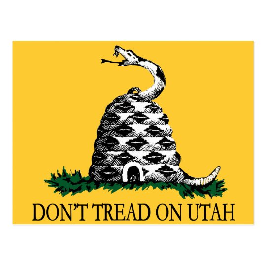Don't Tread on Utah Postcard