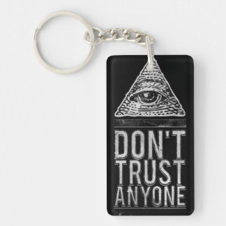 Don't trust anyone key ring
