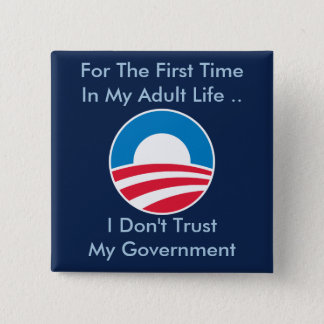 Don't Trust Government 15 Cm Square Badge