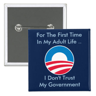 Don't Trust Government 15 Cm Square Badge
