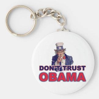 Don't Trust Obama Basic Round Button Key Ring