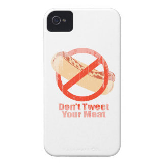 Don't Tweet Your Meat- Faded.png Case-Mate iPhone 4 Case