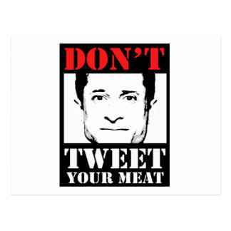 Don't Tweet Your Meat Postcard