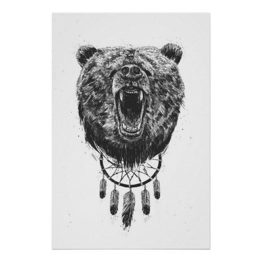 Don't wake the bear poster