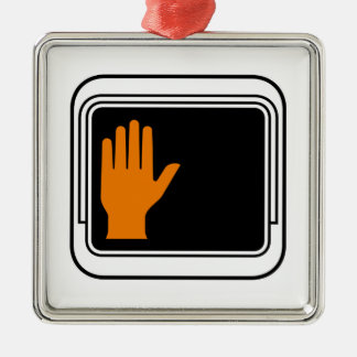 Don't Walk Picture, Traffic Sign, USA Christmas Ornament