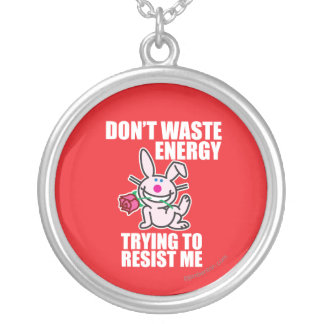 Don't Waste Energy Silver Plated Necklace