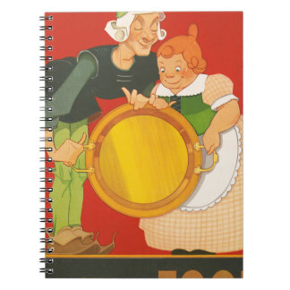 Don't waste food, lick the platter clean spiral notebook